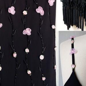 Sue Wong Dresses - Sue Wong black beaded gown silk long dress